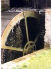 Ford End Watermill--The 11ft diameter overshot waterwheel in action