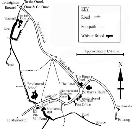 The route of the Whistlebrook